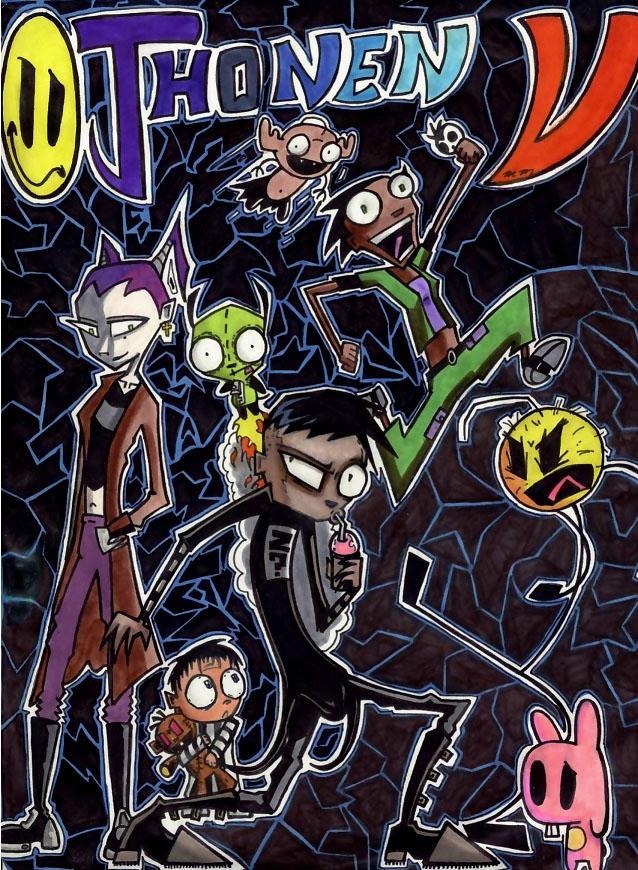 Jhonen Vasquez character group by Slash-Free-JCV on DeviantArt