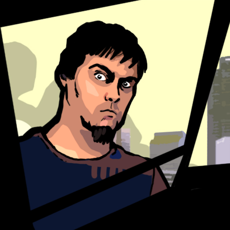 Self Portrait GTA style by Garrenh