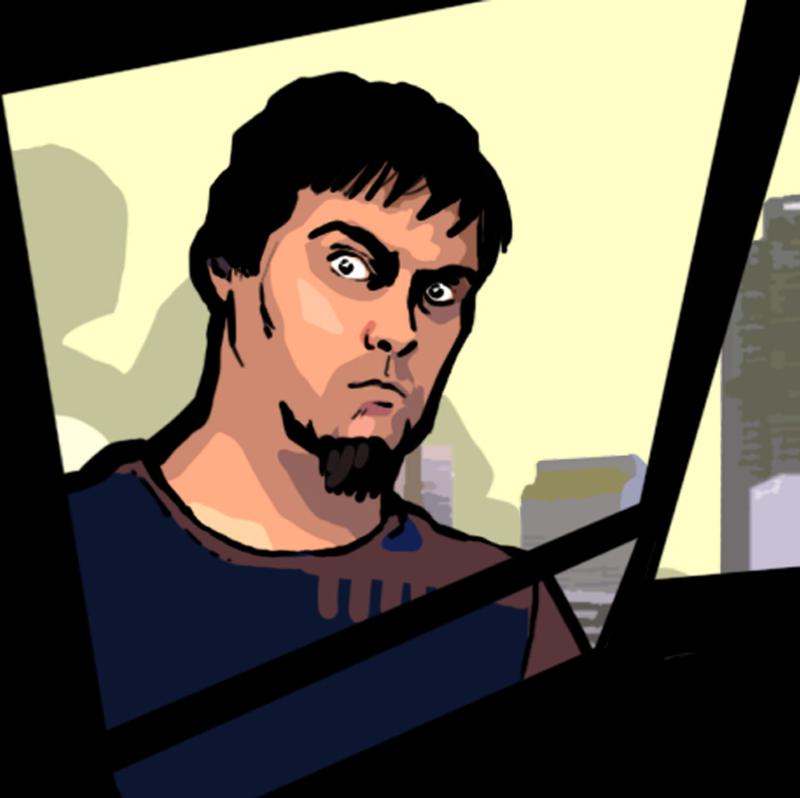 Self Portrait GTA style by Garrenh