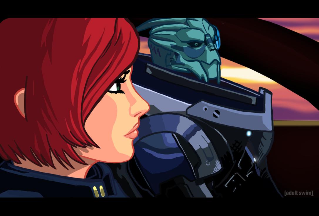 Mass Effect Cartoon Mock-Up 2 by Garrenh