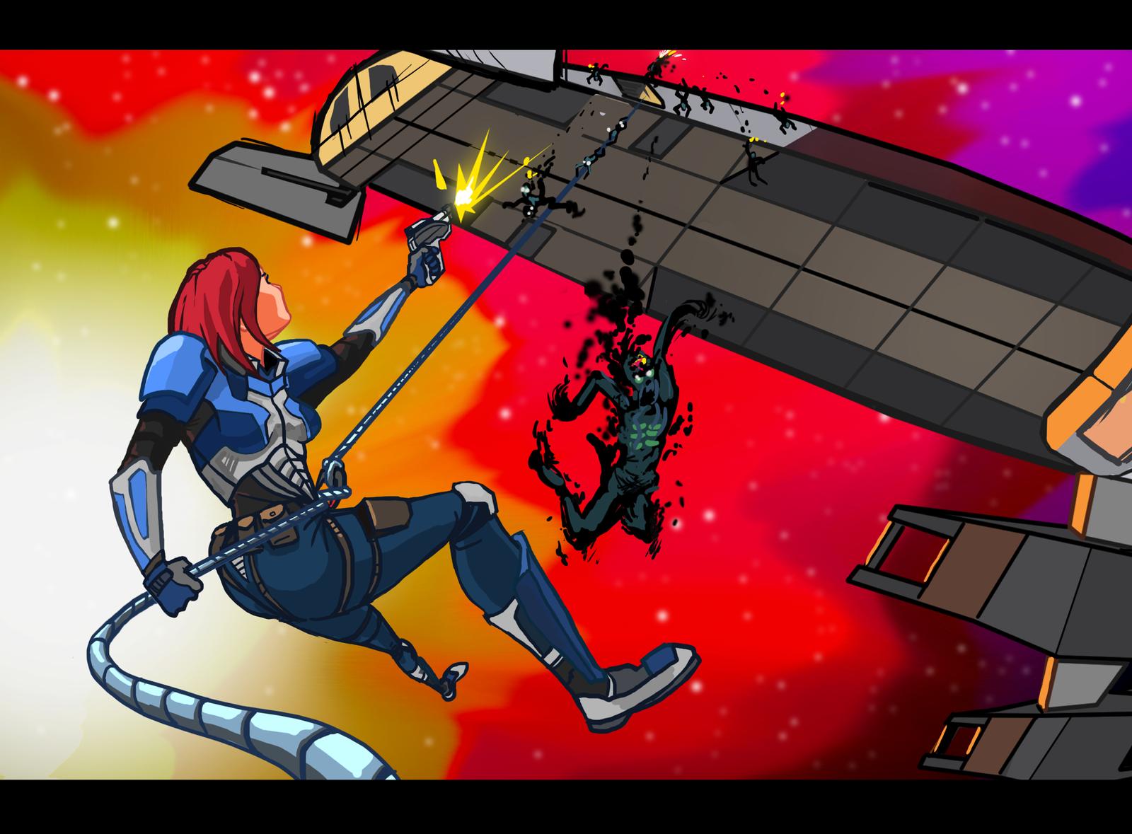 Mass Effect Cartoon Mock-Up 3 by Garrenh
