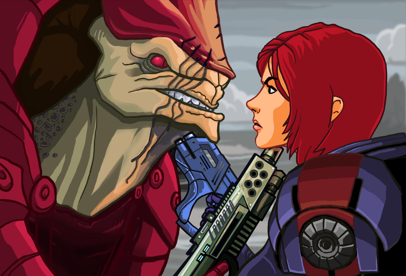Mass Effect Cartoon Mock-Up 7 by Garrenh
