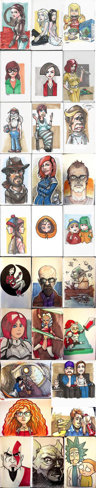 Sketchbook Dump 1 by Garrenh