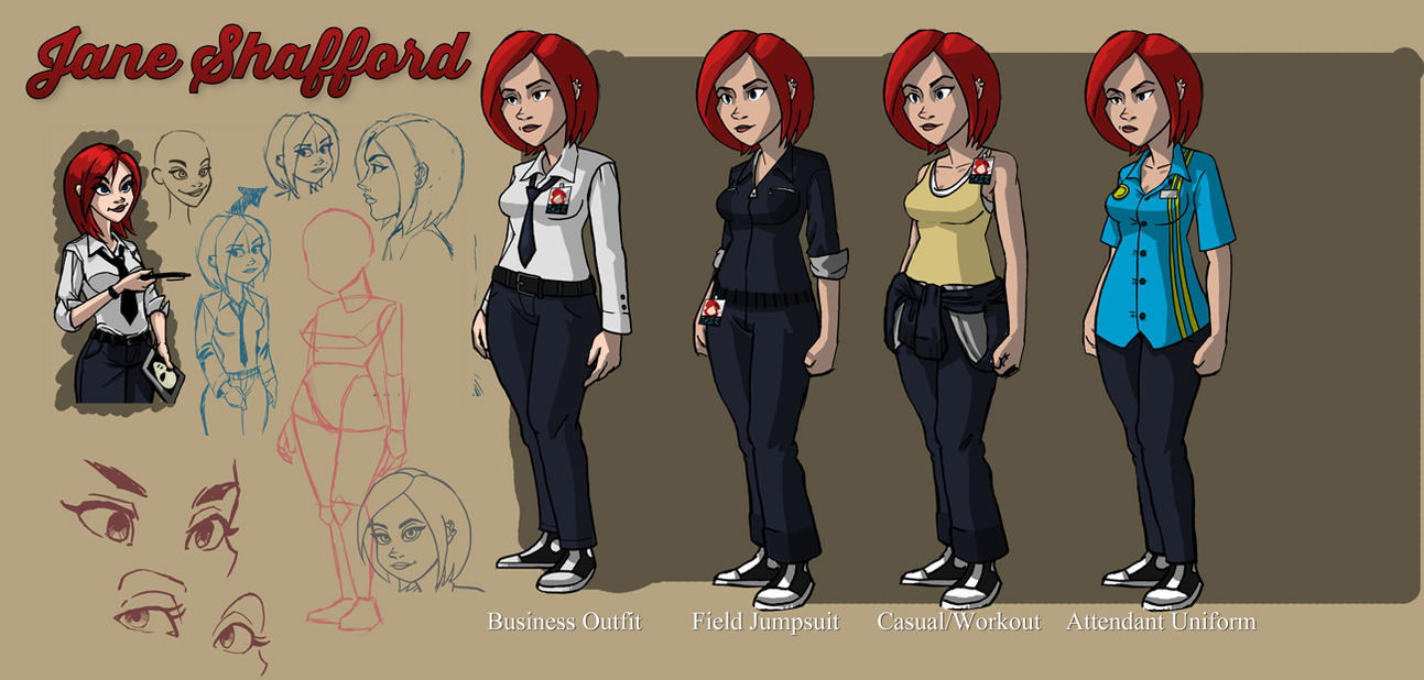 Jane Shafford - Concept Arts WIP1 by Garrenh