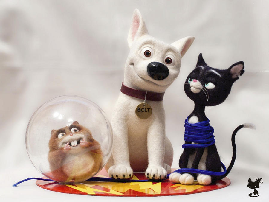 Needle Felted Bolt and Friends by KittenBlackUA