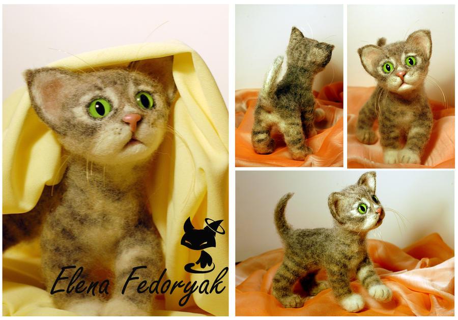 """Little kitten """"Timoshka"""" by KittenBlackUA"""