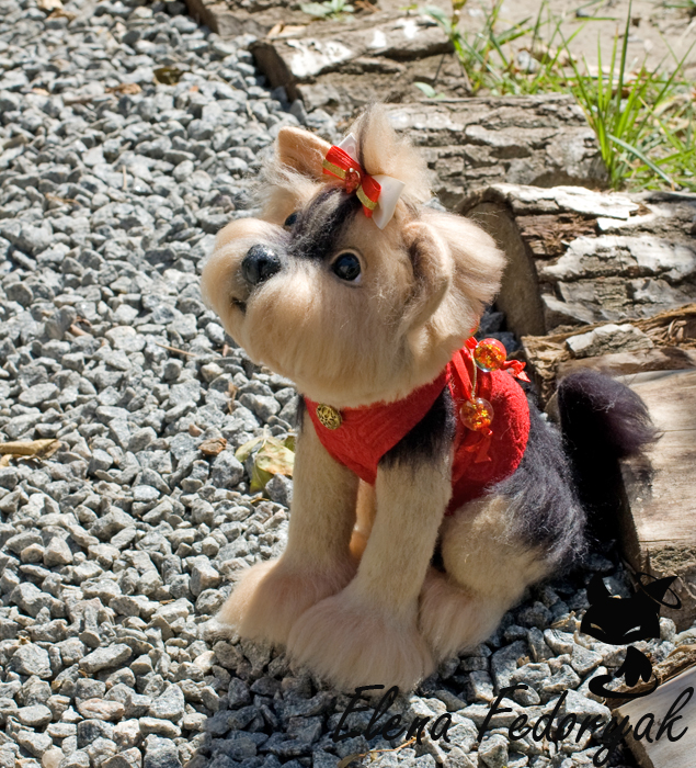 Needle Felted Yorkshire Terrie Melissa by KittenBlackUA