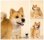 Shiba Inu needle felted dog