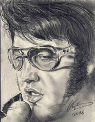 Elvis he sings by artzey