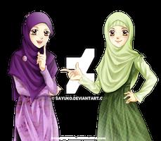 comm: hijab girls