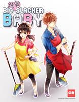 Me VS Big Slacker Baby by sayuko