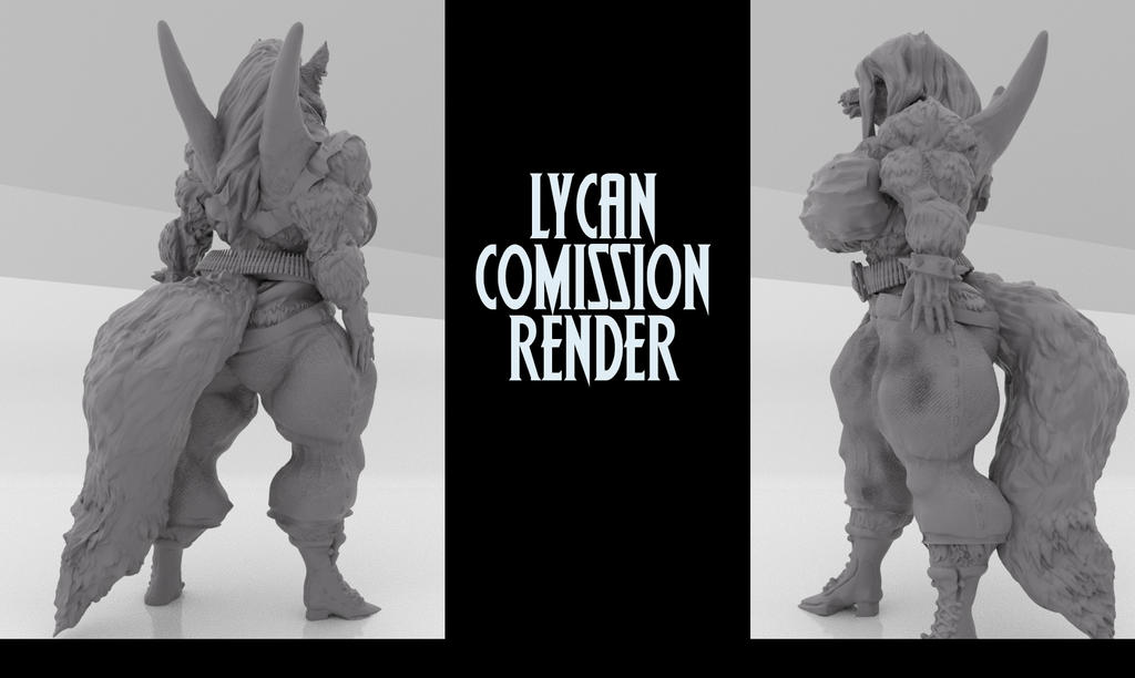 Lycan 3D Sclupt/print sid and back WIP
