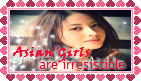 Asian Girls Stamp by mylastel