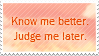 Know Me Better Stamp by mylastel