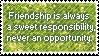 Friendship... Stamp by mylastel
