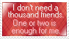 One or Two Friends is Enough by mylastel