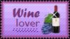 Wine Lover Stamp by mylastel