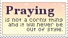 Praying Stamp by mylastel