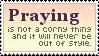 Praying Stamp by mylastel