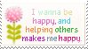 I Wanna Be Happy Stamp by mylastel