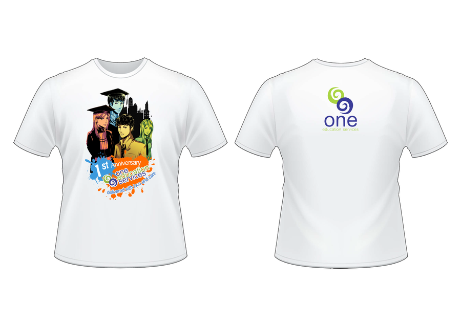one education services t shirt design competition by kira