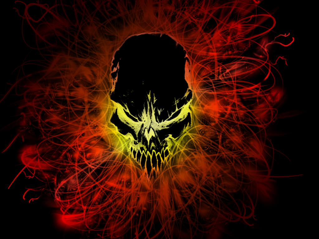 Black Fire Skull By Blacktiger5 On DeviantArt