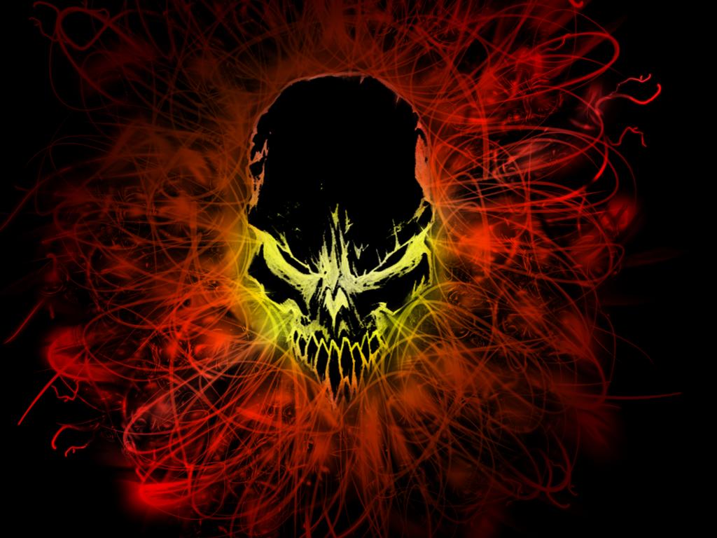 wallpaper 3 black fire skull by blacktiger5 on deviantart