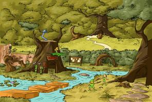 Kokiri forest by Chocolerian