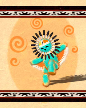 Hopi Sun Face Kachina 2