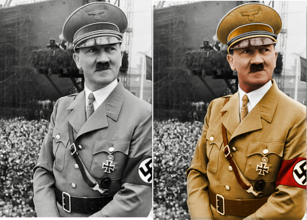 Hitler Colorizaton by Spirit-Knight