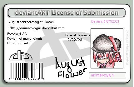 New license by animeroxygirl