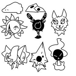 Species doodles by LammarWesley