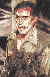 Ash from Evil Dead by Aaron Bir by AaronBirArt