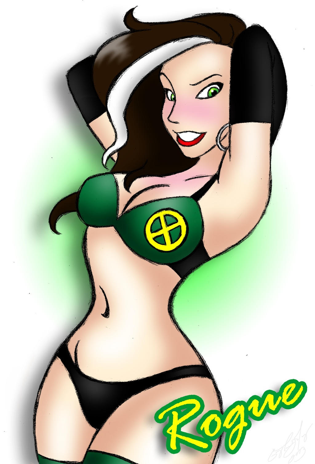 Rogue Pin-Up by DarthGuyford