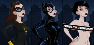 Catwoman Alternates Preview by DarthGuyford