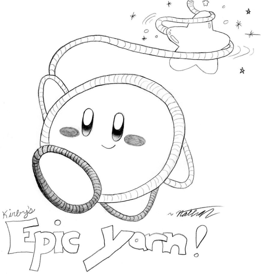 Coloring pages kirby - A Yarn That Is Epic By Crazy4kirby
