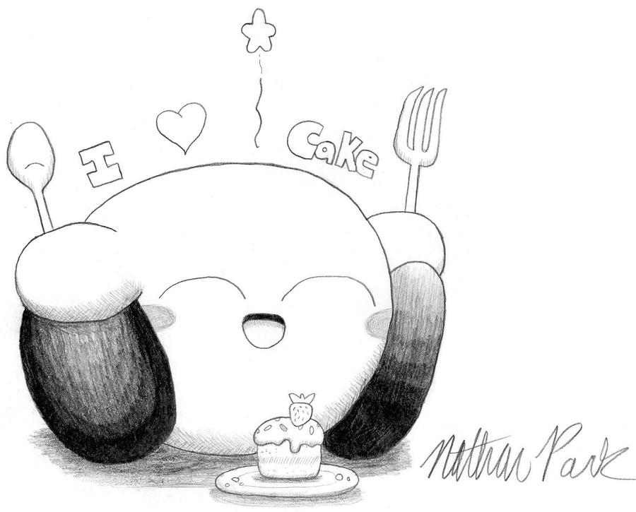 Kirby Loves Cake by crazy4kirby