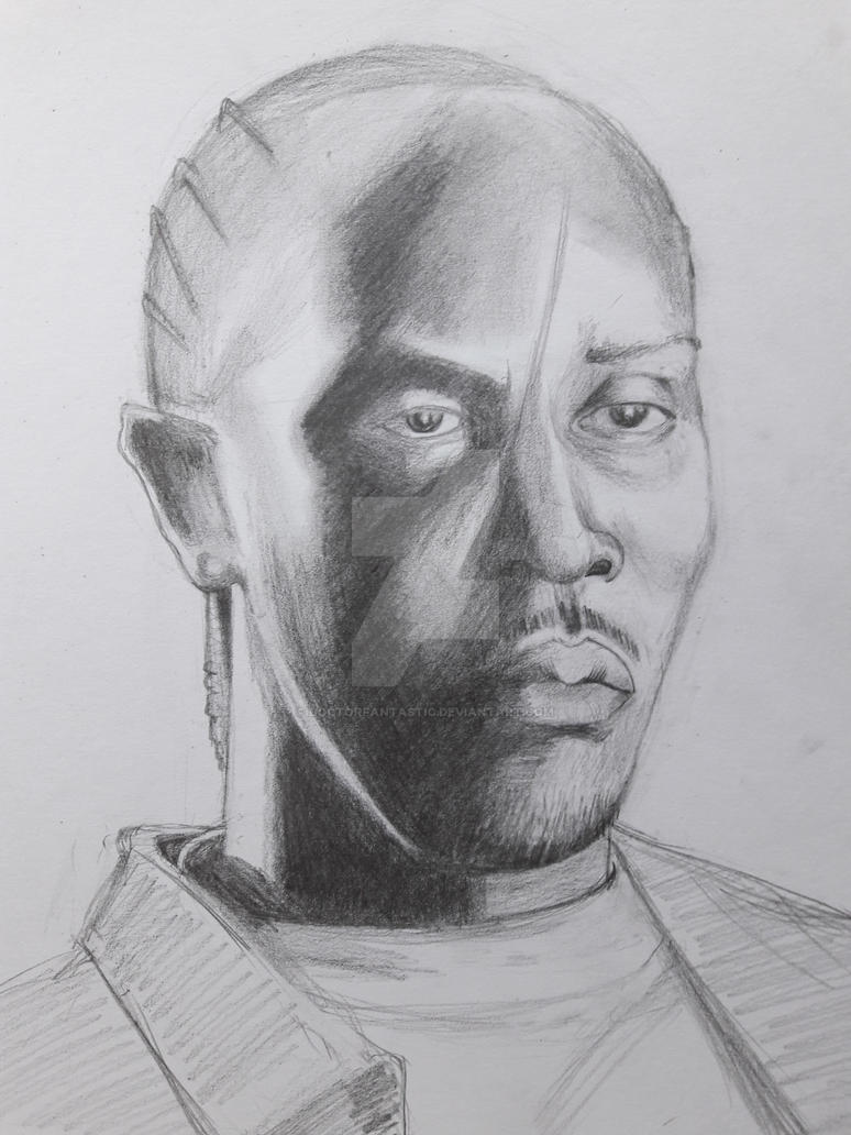 Omar Little Michael K. Williams wip The Wire by DoctorFantastic