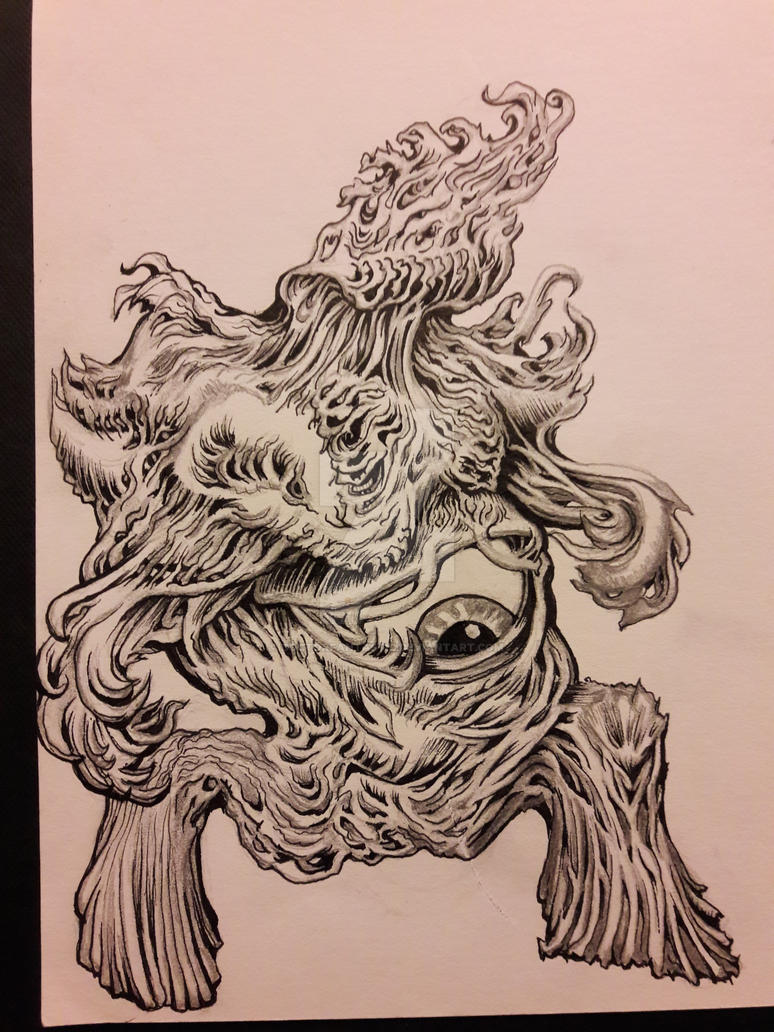 Tree eyeball creature by DoctorFantastic