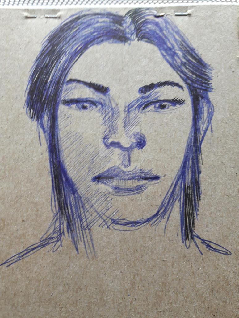 Ballpoint portrait Inktober Day 19 by DoctorFantastic