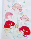 Enchanted Mushrooms - Watercolors