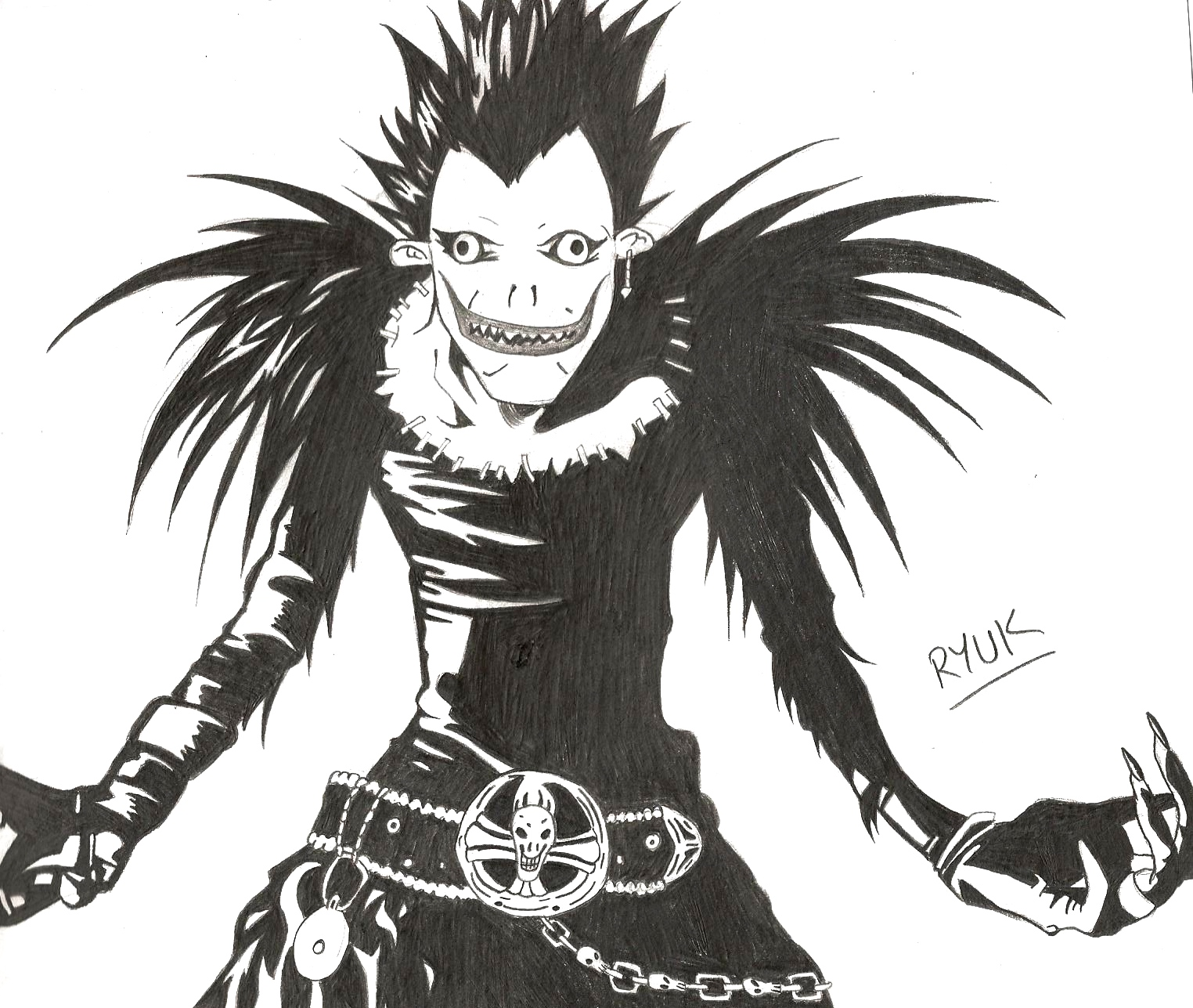 Ryuk sketch by katpann on DeviantArt