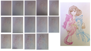 drawing the Wolf Children