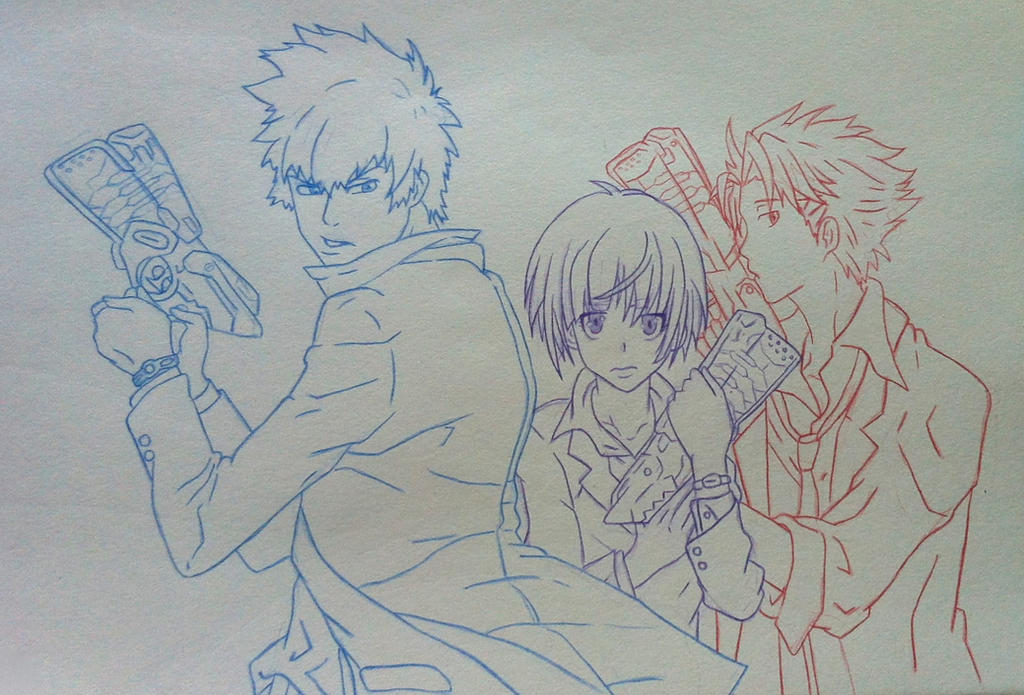 Psycho Pass sketch by katpann
