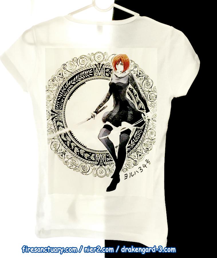 Custom yorha t shirt back by rekka alexiel on deviantart for Custom photo t shirts front and back