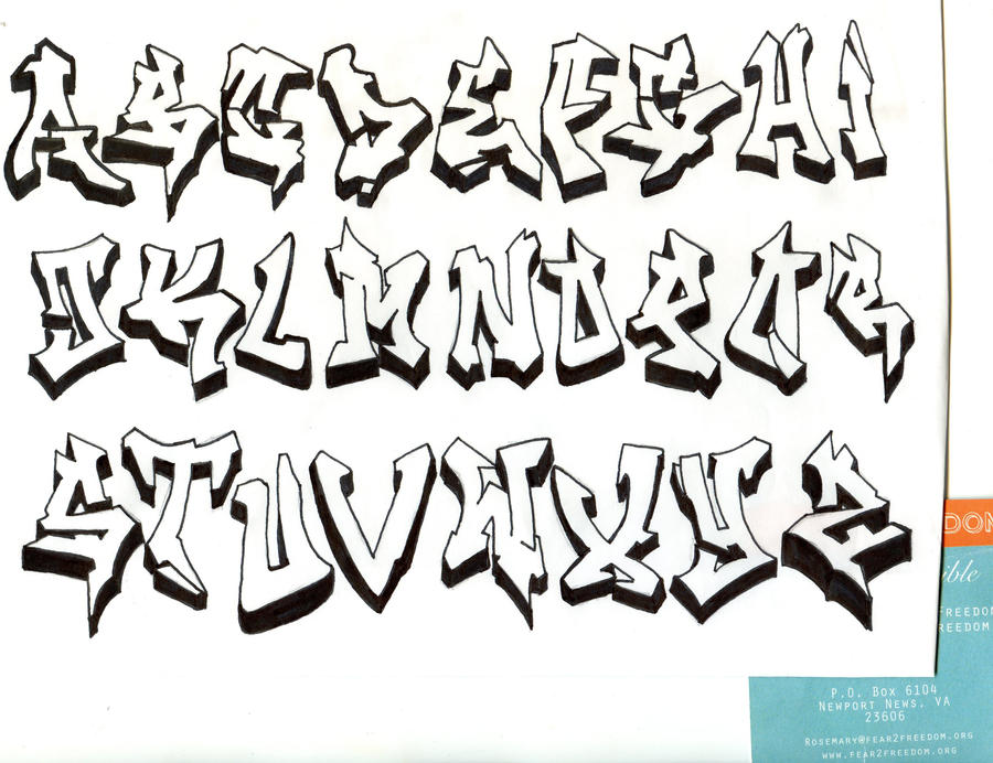 Graffiti Alphabet By DJTurnAround