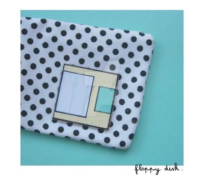 Floppy disk brooch II by yen-hm