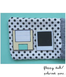 Polaroid and Floppy pins