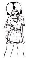 Alice Black Skirt- Lineart