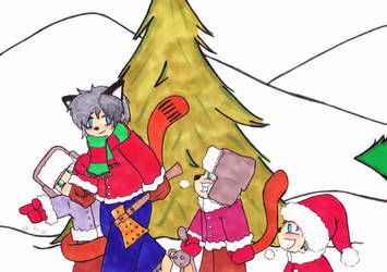 Christmas 2017 Panel 1 colored by Catboy-Trades